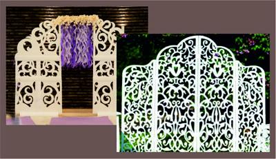 свадебный декор +из пенопласта