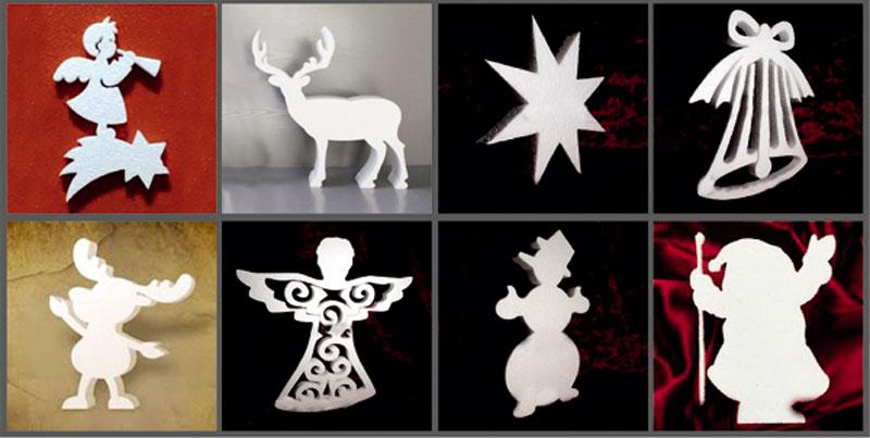 Фигурки на Рождество из пенопласта