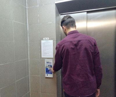 Реклама в лифтах в Хмельницком